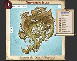 Elder Scrolls Tamriel Maps with Skyrim and Dragonborn